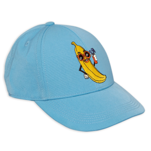 banana embroidery cap-light blue