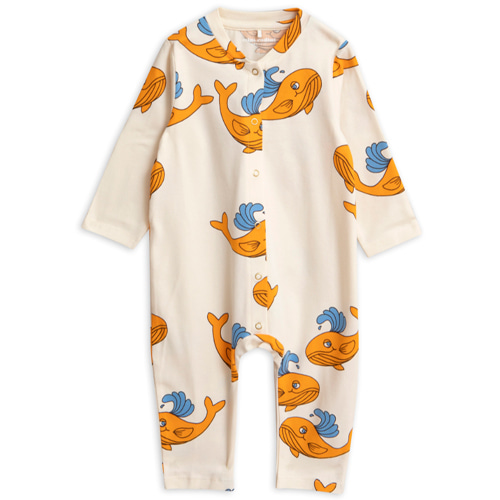 whale jumpsuit-orange