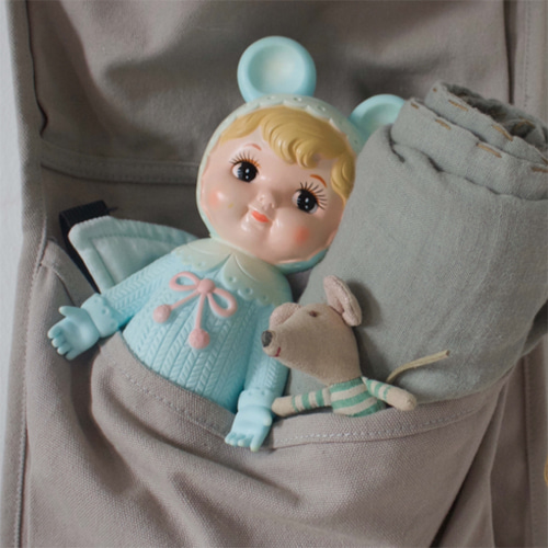 woodland doll-blond turquoise