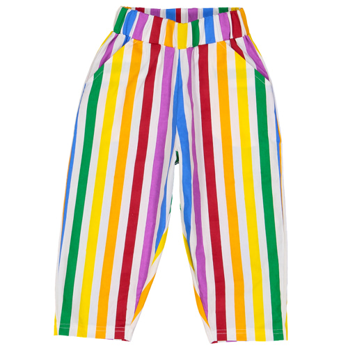 Tulip Pants-rainbow stripes