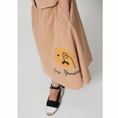 [Weekend House Kids]Flamingo Skirt-camel