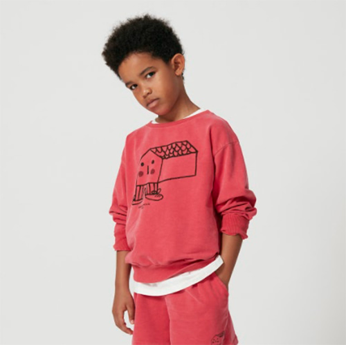 [Weekend House Kids]House Sweat Shirt-red