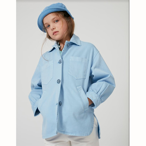 [Weekend House Kids]Blue Jacket-pastel blue