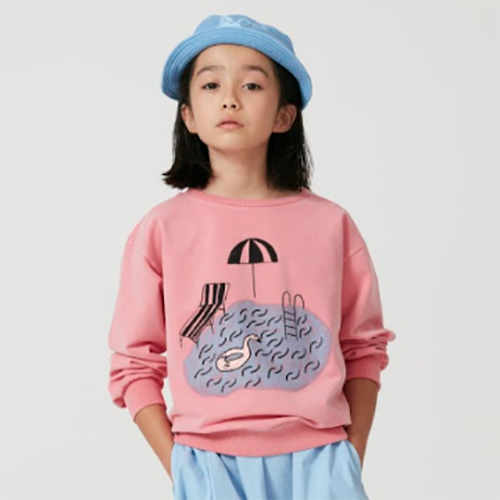 [Weekend House Kids]Pool Sweat Shirt-pink
