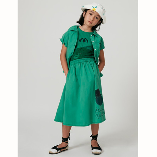 [Weekend House Kids]Gentleman Skirt-green