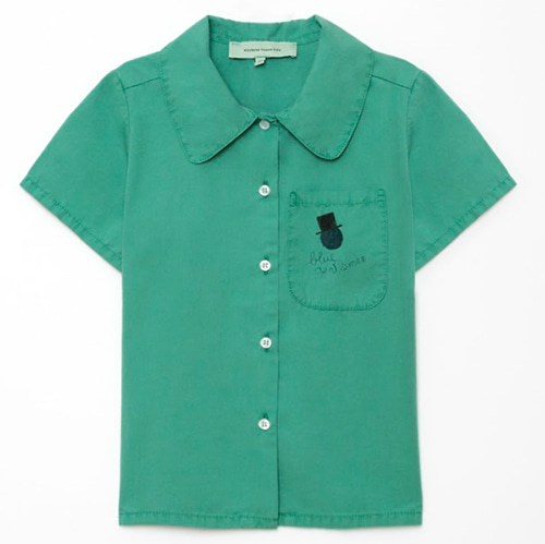 [Weekend House Kids]Gentleman Shirt-green