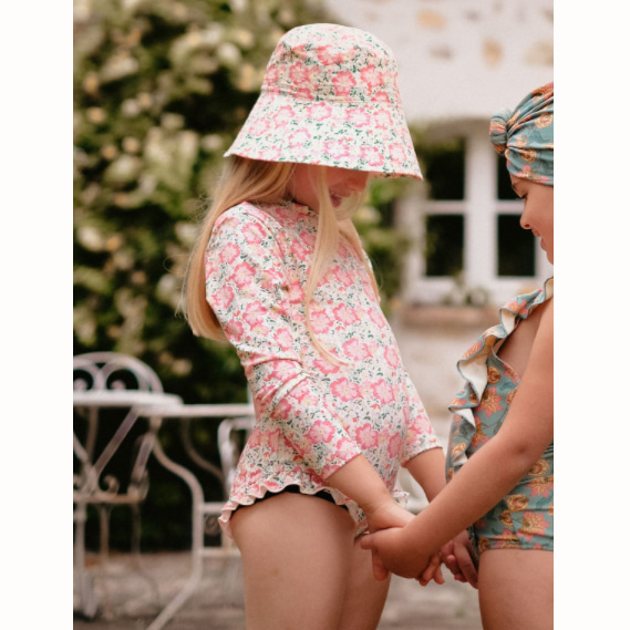 [Louise Misha]UV Protective Swimsuit Aurelie-pink meadow