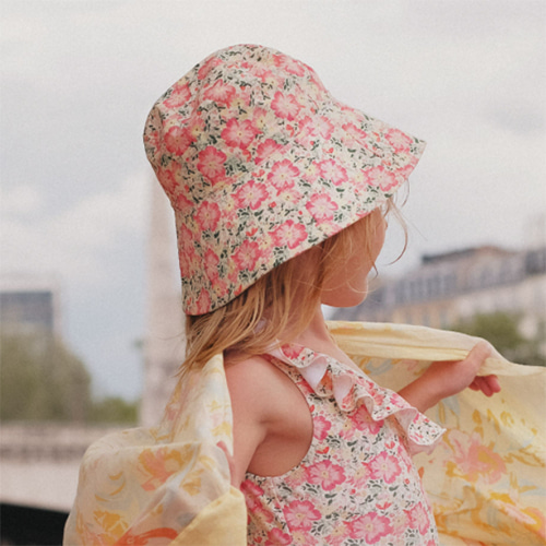 [Louise Misha]Sun Hat Lagik-pink meadow